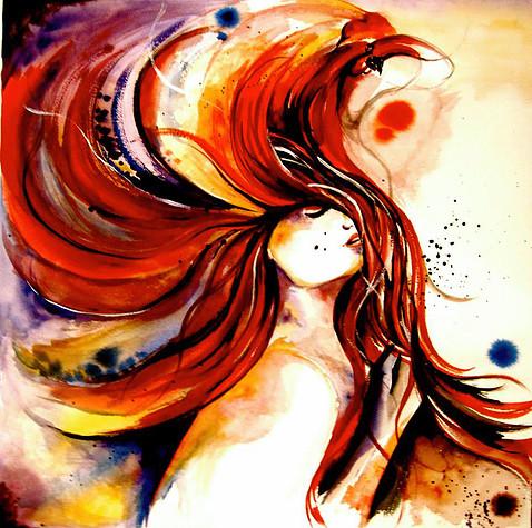 %22Daydream Dance%22-Custom Watercolor painting