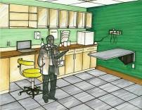 Indianapolis Animal Care & Control-Exam Room 4 Design