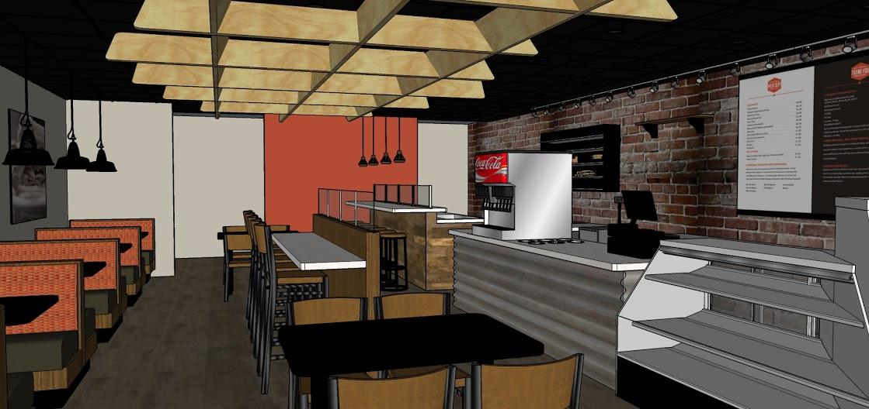 Industrial Cafe Design-Dining Area