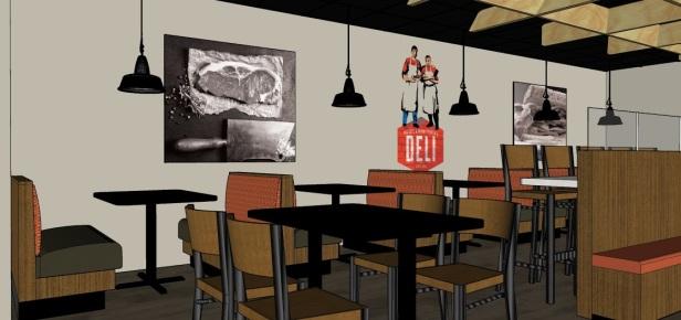 Industrial Design Cafe-Main Dining Area