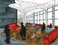 IUPUI Campus Center- Lower Level Design