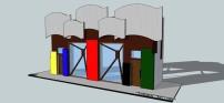Restaurant Facade-Olympic Inspired Design